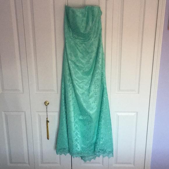 75% off Jessica McClintock Dresses Beautiful Seafoam Green Gown ...